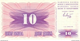 BOSNIE & HERZEGOVINE 10 DINARA 1992 P-10 NEUF [BA010] - Bosnia And Herzegovina