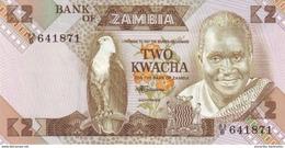 ZAMBIE 2 KWACHA ND (1986) P-24c NEUF [ZM125c] - Zambia