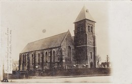 Dranouter, Kerk, Unieke Fotokaart;  (pk36552) - Poperinge