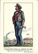 Types Et Costumes Brabançons Vers 1835, Dessins De James Thiriar : L'employé Pour La Route De Fer. CPSM. - België