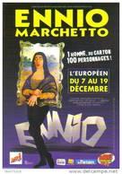 "Carte Postale ""Cart'Com"" - Ennio Marchetto Va Faire Un Carton à L'Européen (caricature De La Joconde) - Publicidad"