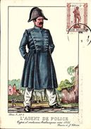 Types Et Costumes Brabançons Vers 1835, Dessins De James Thiriar : L'Agent De Police. CPSM. - Belgique