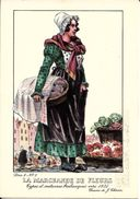 Types Et Costumes Brabançons Vers 1835, Dessins De James Thiriar : La Marchande De Fleurs. CPSM. - Lots, Séries, Collections