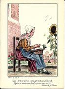 Types Et Costumes Brabançons Vers 1835, Dessins De James Thiriar : La Petite Dentellière. CPSM. - Belgique