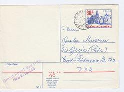 1978 CZECHOSLOVAKIA 30h Praha POSTAL STATIONERY CARD  To Germany Stamps Cover - Postal Stationery