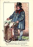 Types Et Costumes Brabançons Vers 1835, Dessins De James Thiriar : Le Marchand De Poulets. CPSM. - Belgique