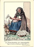 Types Et Costumes Brabançons Vers 1835, Dessins De James Thiriar : La Marchande De Drapelets. CPSM. - België