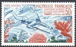 """Polynésie Aerien Yt 14 (PA 14) """" Championnat De Chasse Sous-marine """" 1965 Neuf* - Airmail"""