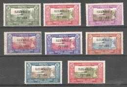 Wallis & Futuna 1938-40,set Of 8,Sc 52//62,7 VF MH*,1 ,40c MNH** (K-8) - Unused Stamps
