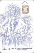 FPY-010 30u  Sc4 Traditional Dance Bleu - Polynésie Française