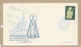 Portugal FDC 40º Aniversario Aparição Fatima  Selo Dia Da Mãe 1.00 Esc. Emissão 1956/58 - FDC