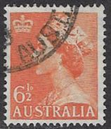 Australia SG263a 1954 Definitive 6½d Good/fine Used [10/26178/6D] - 1952-65 Elizabeth II : Pre-Decimals