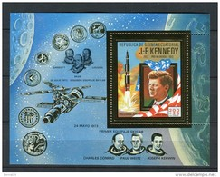 Guinea Ecuatorial 1973. Mi Block 85 GOLD Kennedy ** MNH. - Equatorial Guinea