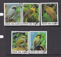 Papua New Guinea SG 597-601 1989 Small Birds Used - Papua New Guinea