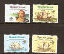 Papua New Guinea SG 662-665 1992 Discovery Of America 500th Anniversary MNH - Papoea-Nieuw-Guinea