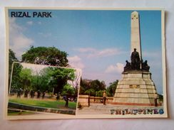 Philippine Postcard  Rizal Park - Philippinen