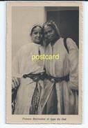 FEMME MAROCAINE ET TYPE DU SUD, MOROCCO. OLD POSTCARD C.1930 #65. - Morocco