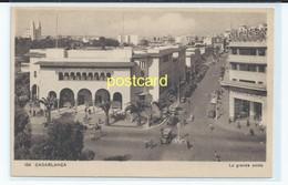 CASABLANCA, MOROCCO - LA GRANDE POSTE.  OLD POSTCARD C.1930 #104. - Casablanca