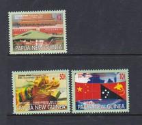 Papua New Guinea SG 900-902  2001China Diplomatic Ties Set Mint Never Hinged - Papua New Guinea