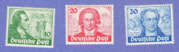 BER SC #9N61-3 MNH 1949 Johann Von Goethe CV $240.00 - Unused Stamps