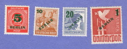 "BER SC #9N64-7 MNH 1949 Defins W/""BERLIN"" Surcharge W/New Value CV $190.00 - [5] Berlin"