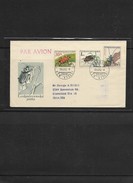 O) 1962 CZECHOSLOVAKIA, INSECT-BEETLES-COCCINELLIDAE-DYSTISCUS-ROSALIA, FDC TO UNITED STATES, XF - Czechoslovakia