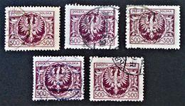ARMOIRIES 1923 - OBLITERES - YT 265 - VARIETES DE TEINTES ET D'0BLITERATIONS - Gebraucht