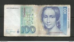 GERMANY 100 MARK 1989 FRANKFURT BANKNOTE DEUTSCHE BUNDESBANK HUNDERT DEUTSCHE MARK - 100 Deutsche Mark
