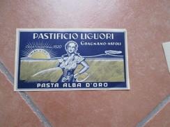 Pastificio LIGUORI Gragnano Napoli Pasta Alba D'ORO Casa Fond.1920 Etichetta Vesuvio Sfondo - Etichette