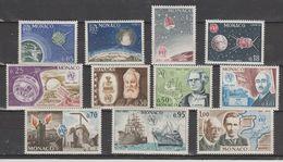 MONACO  1965 U I T  N° 664 à 674  Neuf X X Serie Compl. =11 Valeurs - Monaco