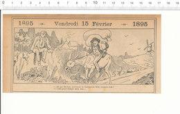 2 Scans Humour De1895 Meunier Sacs De Farine Sur âne Moulin à Vent Meunerie / Libraire Livres Bibliothèque Meuble 207PF3 - Non Classés