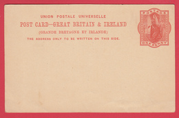 Entier Postal GRANDE BRETAGNE Et IRLANDE * 1900 * ONE PENNY * Vierge * TBE* Cf SCANN - Stamped Stationery, Airletters & Aerogrammes