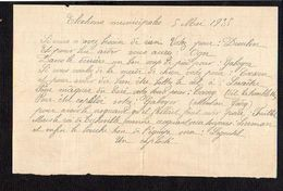 """1935 Tract D'un """"Exploité """" Anonyme, Suite Aux Elections Municipale Du 5 Mai 1935 à Ticheville (Orne 61 ) - Documents Historiques"""
