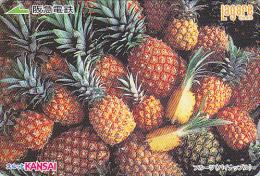 Carte Prépayée Japon - Fruit ANANAS - PINEAPPLE Fruits Japan Prepaid Card  - Obst Lagare Karte - 113 - Alimentation