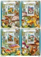 DJIBOUTI 2016 - Mushrooms 1. OFFICIAL Deluxe Sheets - Paddestoelen