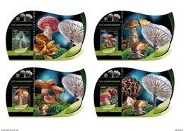DJIBOUTI 2016 - Mushrooms 2. OFFICIAL Deluxe Sheets - Paddestoelen