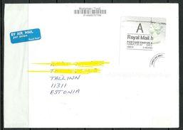 GREAT BRITAIN 2017 Air Mail Cover To Estonia - 1952-.... (Elizabeth II)