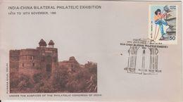 India  1986  Purana Qila  Iron Pillar At Qutub MInar  NEW DELHI   Special Cover  #  92660  Inde Indien - India