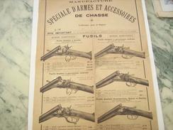 ANCIENNE PUBLICITE SUR MANUFACTURE SPECIALE D ARMES ET ACCESSOIRES DE CHASSE - Autres