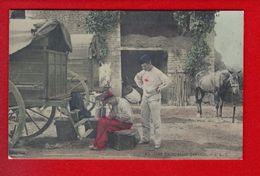 1 Cpa Carte Postale Ancienne - Une Reparation Pressee - Militari
