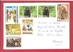 Y&T N°1342+1345++++ KIGALI      Vers  FRANCE - Rwanda