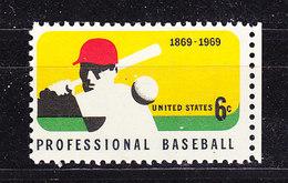 USA 1969 Professional Baseball 1v ** Mnh (36243) - Etats-Unis
