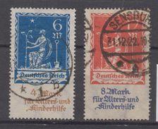 Deutsches Reich Michel Nr. 233 - 234 - Gestempelt - Gebraucht