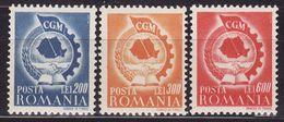 Romania 1947 Trades Union Congress Mi 1037/39 (**) MNH VF - 1918-1948 Ferdinand, Carol II. & Mihai I.
