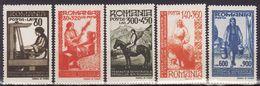 "Romania, 1946 ""Women Federation"" Mi #1013-1017 MNH/** VF - Neufs"