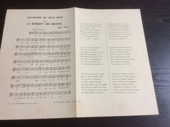 Partition : Chansons Du Chat Noir, Le Banquet Des Maires, Mac-Nab  (Au Mesnestrel.- 2 Feuillets - Début Du Siècle Dernie - Opera