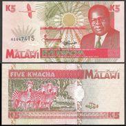Malawi 5 KWACHA 1995 P 30 UNC - Malawi