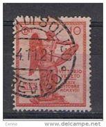 REGNO  VARIETA': 1921  VITTORIA - 10 C. CARMINIO US. - COR. SX. - FARRA  DI  SOLIGO 4.11.21 -  C.E.I. 117 Ad - DATA  RRR - 1900-44 Victor Emmanuel III