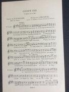 Partition : Croh'n Uer, L'église De La Mer (J.EM. Daval-R.P. Gallen.- 2 Feuillets - Début Du Siècle Dernier - Bon état) - Opera