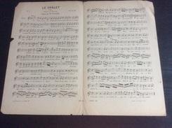 Partition : Le Châlet  (chanté Par Inchindi .- 2 Feuillets - Début Du Siècle Dernier - Bon état, Petites Déchirures) - Opera